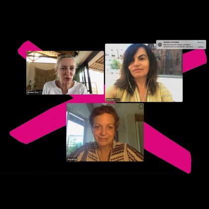 Foto von den YES!CON Content-Managerinnen Simone Adelsbach und Alexandra von Korff im Interview
