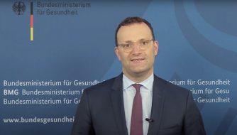 Bild von Jens Spahn, Bundesgesundheitsminister, mit Grußwort zur YES!CON 2021